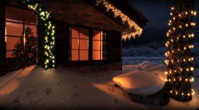 Новогодняя иллюминация частного дома